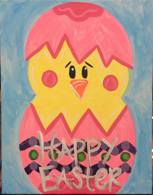 Paint Job Cost >> Craft Crossing Kids Easter Chick Painting Class - Gonzales ...