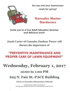 Master Gardeners Adult Education Seminar @ PACE Building | Gonzales | Texas | United States