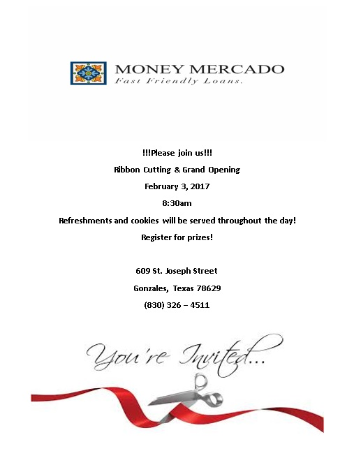 01be7646af11f Money Mercado Ribbon Cutting   Grand Opening - Gonzales Chamber of ...