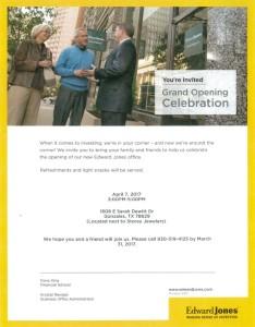 Edward Jones Grand Opening Celebration @ Edward Jones Investments | Gonzales | Texas | United States