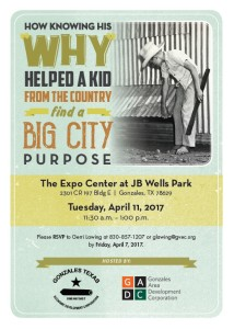 How Knowing His Why Helped A Kid From The Country Find A Big City Purpose @ J.B. Wells Expo Center  | Gonzales | Texas | United States
