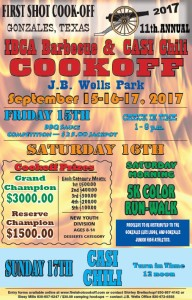First Shot Cook Off Poster 2017