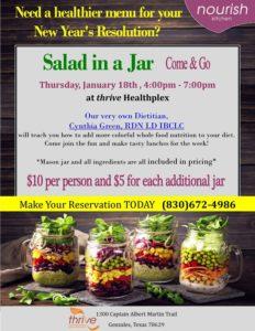 Salad In a Jar @ Thrive Healthplex | Gonzales | Texas | United States