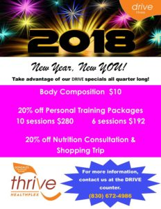 Personal Training Specials @ Thrive Healthplex | Gonzales | Texas | United States