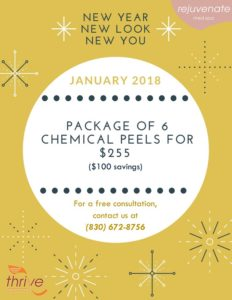 Chemical Peel Special for January at Thrive @ Thrive Healthplex | Gonzales | Texas | United States