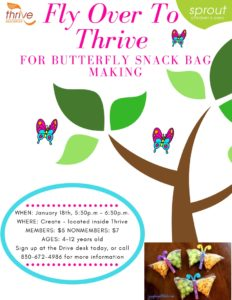 Butterfly Snack Bag Making Class @ Thrive Healthplex | Gonzales | Texas | United States