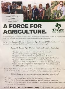 Texas Agri-Women @ Le Bella Tavola | Gonzales | Texas | United States