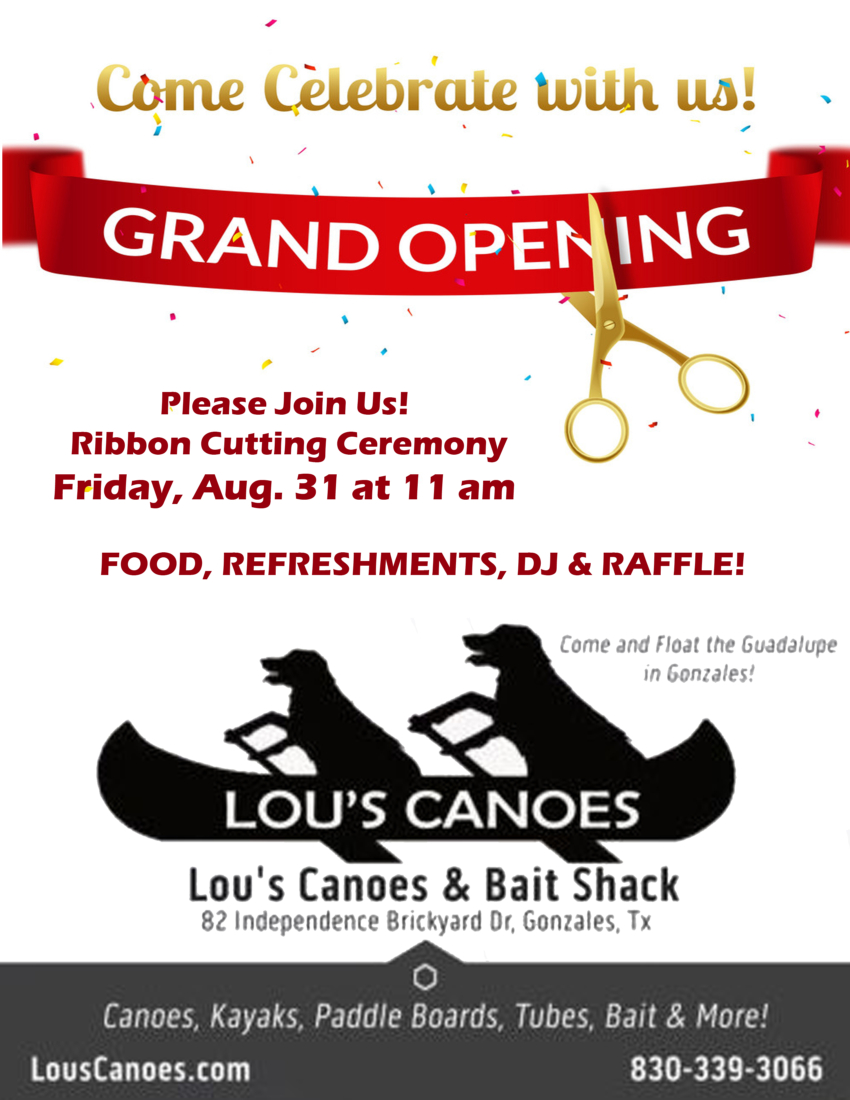 Lou's Canoes Grand Opening and Ribbon Cutting Celebration