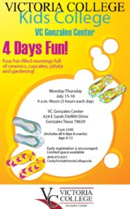 Victoria College Presents: Kids College @ Victoria College - Gonzales Center | Gonzales | Texas | United States